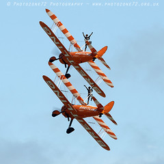 3417 Wingwalkers (photozone72) Tags: eastbourne airshows aircraft airshow aviation breitlingwingwalkers breitling wingwalkers boeing stearman biplane canon canon7dmk2 canon100400f4556lii 7dmk2