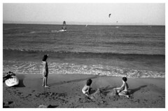 Pomorie, Surfing series II, 2017 (skumata) Tags: mju mjuii olympus pomorie bulgaria blacksea surf surfing kite sea summer summertime film analog analogue kentmere