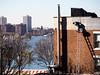 Lifeline on the Highline (Feldore) Tags: newyork man ladder shadow painting dangerous danger lifeline vertigo highline health safety feldore mchugh em1 olympus 35100mm panasonic leaning chelsea