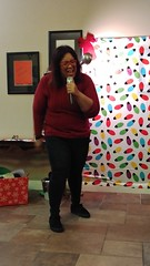 "Karaoke at a holiday party • <a style=""font-size:0.8em;"" href=""http://www.flickr.com/photos/131449174@N04/25247528118/"" target=""_blank"">View on Flickr</a>"