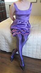 Purple3 (sensuousPH) Tags: pantyhose tights ceciliaderafael uppsala amatista crossdress cd tstrap pumps satin party dress purple heels charmeuse