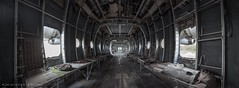 Military Aircraft (Graceful Decay) Tags: abandoned forgotten urbex decay derelict lost deserted panorama airplane aircraft military canon gracefuldecay decayed old eos grey forsaken aviation transport