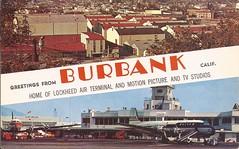 BUR01 (By Air, Land and Sea) Tags: airport postcard burbank bur california lockheedairterminal burbankairport aircraft airplane airline unitedairlines
