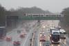Over the top... (DH73.) Tags: londonnorthwesternrailway lnwr siemens desiro class 350 milton malsor northampton sleet winter m1 motorway driving