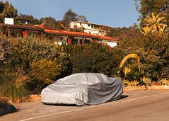 (Levi Mandel (@levimandel)) Tags: ojai ca california santabarbara street winter golden light nsx car cover weird landscaping magic californiadreamin