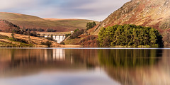 Dam reflection! (Nathan J Hammonds) Tags: dam reservoir water wales elan valley winter long exposure nd 10stop filter reflection sky clouds trees hills uk nikon d750 dams w