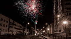 Silvester 2018 (dino.jnsk) Tags: new years eve year silvester neues erfolgreiches frohes jahr 2018 feuerwerk fireworks happy neujahr neu party color colour blue red yellow blau rot gelb