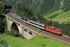 Montagnard (Lion de Belfort) Tags: re 44 i 420 11134 sbb cff ffs wassen uri suisse gothard meienreuss viaduc ic ir inter regio city