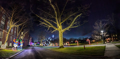 Nela Park Holiday Lighting 2017 (pyathia) Tags: nela park east cleveland christmas light lights display seasons greetings historic ohio location campus century 100 years old holiday lighting ceremony ge current powered by general electric interior drive through thru inside panoramic panorama photo stitch