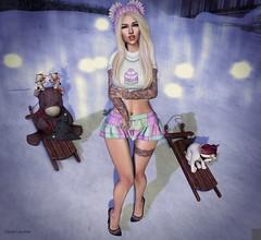 White Christmas (тнe roѕy ѕιde oғ тнιngѕ) Tags: catwa maitreya deadly nightshade yule bazaar event bazar 1 hundred white widow re real evil industries empire astralia limerence foxcity omen the face winter trend