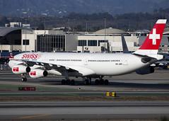 HB-JMO_A340-313_SWR_KLAX_2192 (Mike Head - Jetwashphotos) Tags: airbus a340 a340313 lx swr swiss lax klax losangelesinternationalairport socal southerncalifornia us usa america