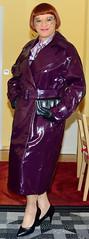 Birgit025715 (Birgit Bach) Tags: skirt rock bowblouse schleifenbluse coat mantel vinyl lack