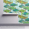 'Parrotfish + sea fronds by Su_G': Isobar Wallpaper (mockup) (Su_G) Tags: parrotfishseafrondsbysug isobarwallpaper mockup roostery spoonflower spoonflowerdesignchallenge fish parrotfish seafronds seaweed seagrass seascape seaside seagrasses seagreen wallpaper walltreatment underwater diving scubadiving snorkelling swimming animals water