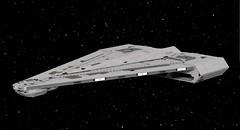 Imperial Quasar Fire-class Cruiser-Carrier (TheNerdyOne_) Tags: lego ldd starwars empire ship rebels