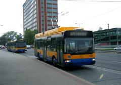 Zlin-Otrokovice Nos. 210 and motor bus 662. (johnzebedee) Tags: trolleybus transport publictransport vehicle skoda zlinotrokovice czechrepublic johnzebedee skoda24tr