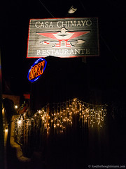 Casa Chimayo - sign (frodnesor) Tags: casachimayo santafe newmexico mexicanfood newmexicanfood