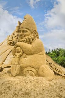 Zwerg , Sandfigurenfestival Binz