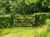The Padlocked Gate (Steve Taylor (Photography)) Tags: gate padlock poppy field daisy art digital brown green red wooden uk gb england greatbritain unitedkingdom london trees hedge hallplace grounds