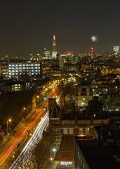 City at Night (8 of 10) (johnlinford) Tags: a13 canoneos7d car city citylights cityoflondon cityscape firework london londondocklands longexposure night road shard transport