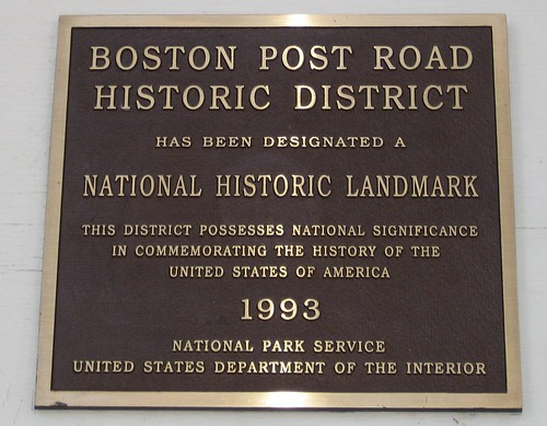 Boston Post Road Historic District - National Historic Landmark designation 1993