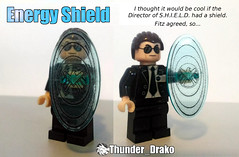Phil Coulson's Energy Shield lego custom - Agents Of S.H.I.E.L.D. (Thunder_Drako) Tags: marvel mcu lego moc decal custom energy shield cinematic universe phil coulson abc agent agents director mod superheroes