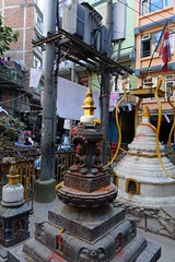 Power and religion (posterboy2007) Tags: kathmandu nepal street transformer power electricity religion shrine sony