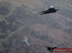 Two USAF F-15E Spur 7/12/17 (chinneylowfly) Tags: usaf f15e spur low level mach loop 71217