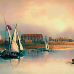 Digital Oil Painting of the Ruins of Thebes  by Charles W. Bailey, Jr. thumbnail
