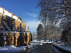 Malvern Chapel (Honey Green) Tags: snow weather winter wonderland christmas sky blue colour church chapel malvern college road landscape land england countryside worcester worcestershire trees nature cold frost sparkle holiday festive icy ice