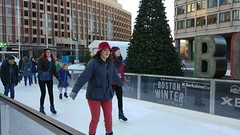 Boston City Hall Plaza Skating Path (brooksbos) Tags: boston brooksbos brooks fun family friend friends geotagged massachusetts newengland christmas holidays skating skaters smiles smiling lg g6 smartphone android lgg6