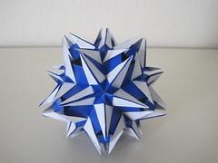 Snow Queen (Ekaterina Lukasheva) (mborigami) Tags: paper folding origami modularorigami kusudama