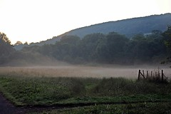 Misty - Early Morning in Sidmouth - July 2017 (Dis da fi we (was Hickatee)) Tags: reflection early morning sidmouth devon mist hills