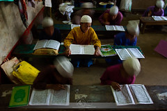 Reading by Headbang (Md Aman Ullah Minhaz) Tags: reading child childhood school islamic bang shake cloths colorful color colourful colour earlymorning different ditterent chittagong madrasha bangladesh canon canonphotography canon7d street streetphotography ngc