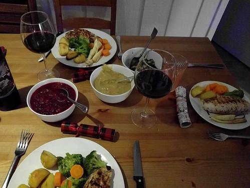 Low-key Christmas dinner