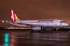 Germanwings D-AGWO HAJ at Night (U. Heinze) Tags: aircraft airlines airways haj hannoverlangenhagenairporthaj eddv flugzeug planespotting plane nikon