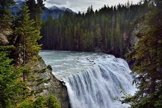 The Rushing Waters of the Kicking Horse River Over Wapta Falls (Yoho National Park)