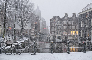 Early winter in the Zeedijk neighbourhood of Amsterdam