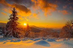 Winter sunset (z.dorighi) Tags: beskidy grudzień równica ustroń zachódsłońca zima sunset evening beautiful amazing stunning poland romantic view landscape winter snow trees mountains dreamland wonderland sun sky couds day mood