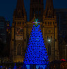Xmas Tree, Federation Square (Scottmh) Tags: 2017 st blue cathedral christmas city d7100 federation melbourne nikon pauls square summer sunny tree