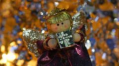 little Christmas angel (karinrogmann) Tags: macromondays december25 memberschoice bokeh christmasangel weihnachtsengel