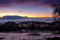 sun and clouds (felipeepu) Tags: nature elements earth sun sky clouds fog trees colorful mountains firmament stars moon snow