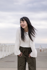 High school girl standing on harbor (Apricot Cafe) Tags: img20143 asia asianandindianethnicities femalehighschoolstudent japan japaneseethnicity kanagawaprefecture shonan adolescence beach beautifulwoman blackhair carefree casualclothing charming cheerful day education enjoyment excitement freedom hairtoss happiness harbor highschool highschoolstudent highteen lifestyles longhair oneperson outdoors portrait simpleliving sky smiling standing straighthair student teenagegirls teenager threequarterlength wind youngwomen