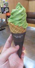 Matcha Ice Cream (Hatsukaichi, Japan) (courthouselover) Tags: japan 日本 stateofjapan 日本国 chugokuregion chūgokuregion 中国地方 hiroshimaprefecture 広島県 hatsukaichi 廿日市市 asia meals icecream matcha
