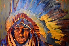 Taos art (thomasgorman1) Tags: oil painting nikon gallery art taos nm portrait man colors expressionism western southwest west native american