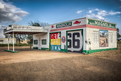 Magnolia---Get your kicks on Route 66 (donnieking1811) Tags: newmexico tucumcari route66 magnolia mobil building art mural getyourkicks hdr canon 60d lightroom photomatixpro