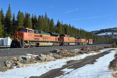 BNSF U-MQRMMR1-22A (caltrain927) Tags: union pacific railroad bnsf railway burlington northern santa fe loaded welded rail train unit emd sd70ace ge c449w dash 944cw soda springs california ca