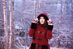 Heli (AV art) Tags: winter photoshoot young woman girl alternative model outdoot ambient natural light red coat jacket hood snow snowy evening december haihunkoski akaa viiala finland river talvi talvinen lumi luminen maisema kuvaukset vallitseva luonnon valo luonto metsä vanha silta kivisilta joki koski kaarisilta punainen nuttu takki huppu nuori nainen tyttö malli alttimalli valkoinen asu costume ulkoilma ulkona joulukuu joulukuussa forest woods
