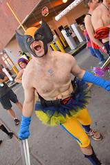 Wolverine is ready for a run (radargeek) Tags: cupid undies run okc oklahomacity charity cupidsundierun february 2017 endnf endneurofibromatosis superhero wolverine thebanegrimm downtown bricktown cosplay xmen tutu banegrimm