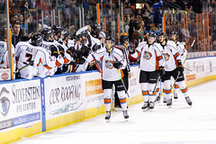 """Kansas City Mavericks vs. Kalamazoo Wings, January 5, 2018, Silverstein Eye Centers Arena, Independence, Missouri.  Photo: © John Howe / Howe Creative Photography, all rights reserved 2018. • <a style=""""font-size:0.8em;"""" href=""""http://www.flickr.com/photos/134016632@N02/38681937075/"""" target=""""_blank"""">View on Flickr</a>"""