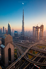DUBAI CITY (hisalman) Tags: burjkhalifa dubai hisalman buildings highrise metro dusitthani sheikhzayedroad city